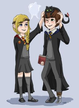 Hiccstrid at Hogwarts by eas123
