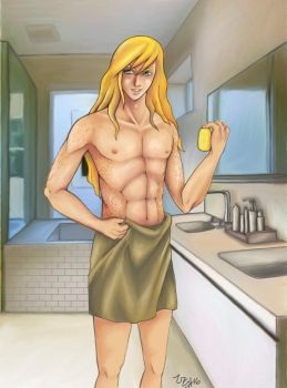 Clyde before shower  by uchuujinko