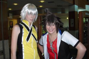Sora and Riku Cosplay by Kyun-Kyun