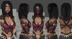 MKX - XPS Mileena Long Straight Hair DOWNLOAD by MistFighter