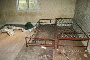 Abandoned house, beds by deadenddoll-stock