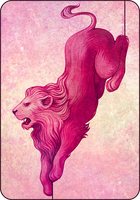 pink lion by Eldanis
