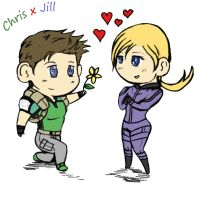 ChrisxJill by redfield37