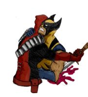 Wolverine vs Dead pool by TUATARAman01