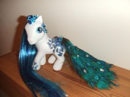 Peacock Desire My Little Pony Custom by lilacamy931