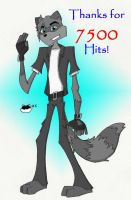 7500 Hits - Or ScrawnyCoon by ConnerCoon