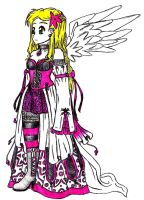 Gothic Angel by Foxy-Sketches