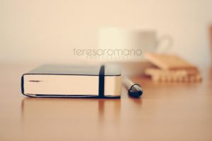 bic,moleskine and a cup of tea by spaziochiuso