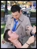 Cosplay: Dean and Castiel 17 by SharysAogail