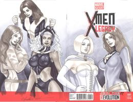 X-men Legacy Sketch Cover by daikkenaurora