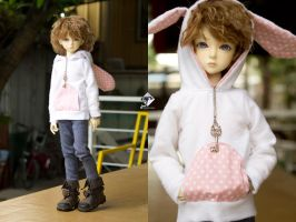 5th Atelier Plushie Hoodies: White Bunny by Ylden