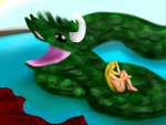Serpent on the water by Envy-is-my-god