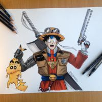 17 famous anime characters combined by AtomiccircuS