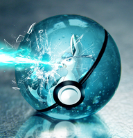 Glaceon in Pokeball by G1ZMO-DARG0N