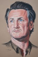 Sean Penn portrait by Andromaque78