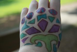 My Hand Art by Got-into-the-Glitter