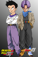 Trunks and Goten for LegendarySaiyanDihan by Dairon11