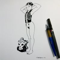 Swimsuit skull for winner by raultrevino