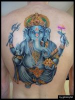 Ganesha tattoo WIP by grimmy3d
