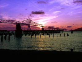 astoria oregon sunset by Alegion-stock
