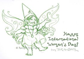 Sketch - Tock for Women's Day by rachelillustrates