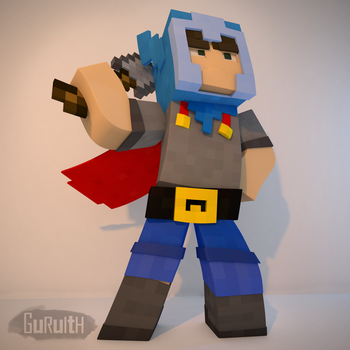 Vivid Warrior (Minecraft) by Guruith