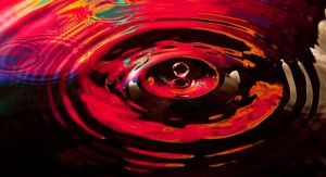 Water drop in Red Yellow by shayne-gray