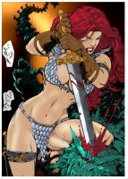 RED SONJA Ed Benes Coloring by me by jbellcomic
