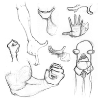 Other body parts and a worm by the-error404