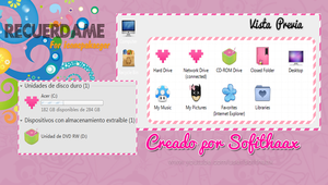 Tema iconcpackager Recuerdame by SofithaaxTutoriales