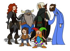 Dungeons and Dragons Adventure Time by CandyKappa