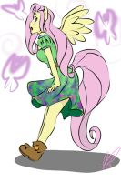 Ponies in Sundresses--Fluttershy by LadyFitz