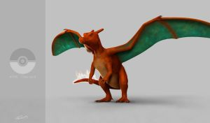 Charizard, the firebreathing, flying orange lizard by ChrisMasna