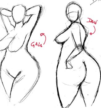 Sketch Sexy Pose sGroup 2 by BigGirlsArt