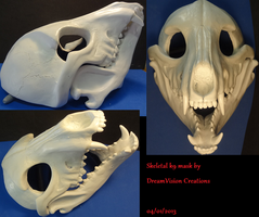 Skeletal K9 full mask by DreamVisionCreations