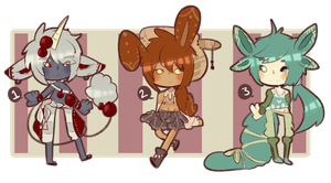 Auction Adopts 5 [Closed] by SugarSweetEclair