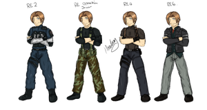 Leon throughout the Games Colour by ForinthryHawk