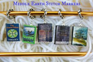Middle Earth STITCH MARKERS by maryfaithpeace