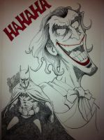 Joker and Bats by vibog-3