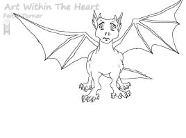 Doogie Blue The Dragon Lineart by Faith-Bailey