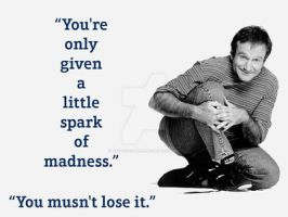 Robin William's Quote To Live By :) x by TaintedVampire