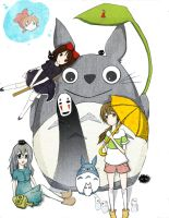 Studio Ghibli by penguinphoebe