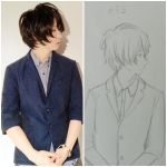 Tried to draw Soraru's LINE profile (comparison) by 11Giggles20