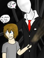 PewDiePie and Slenderman by CityCatSlack