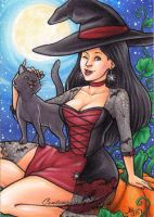 Witchy Pinup by AmyClark