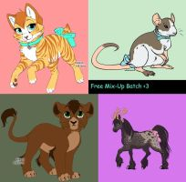 Free Mix Up Batch [CLOSED] by WolfFoxGurl