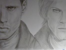 Supernatural: Dean and Sam Winchester by SebbyFan