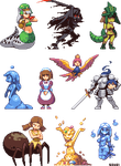 Monster Girl Sprites Part 2 by iSohei