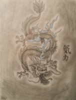 Japanese Dragon. (Finished) by DeadBunnyKillMeSlow