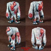 Zombie Abominable Snowman Ooak by Undead-Art